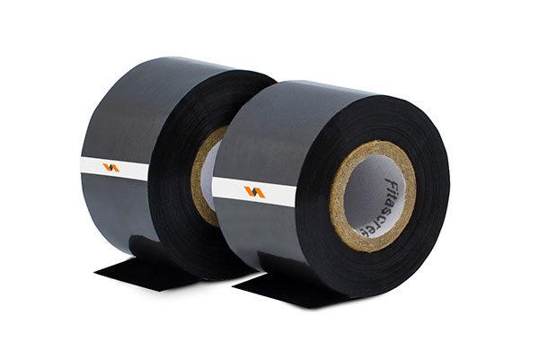 Duas fitas datadora ribbon preto 35mm em paralelo