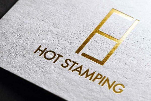 Fita hot stamping dourada aplicação papel