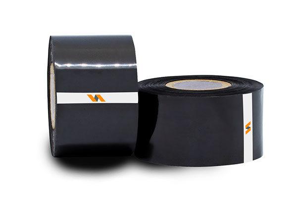 Dois rolos Fita para datador preta embalagens