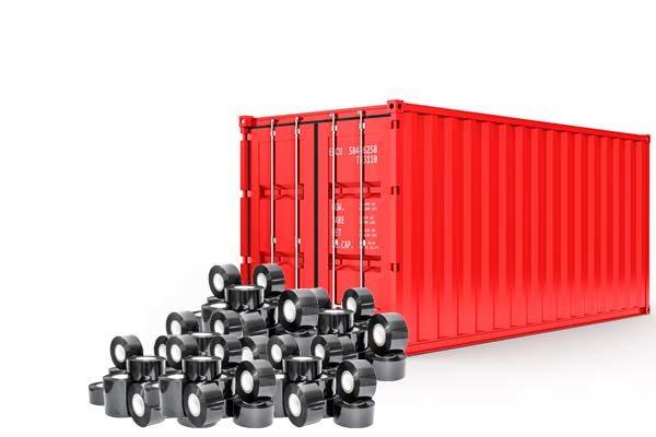 Fita datadora container vermelho