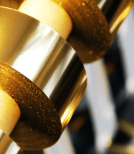 bobina de fita hot stamping na cor dourada
